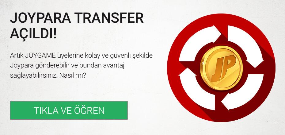 Joypara Transfer Açıldı