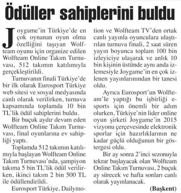 joygame basin yansimalari baskent gazetesi 14 10